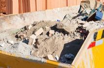 Entulho de obras de construção e reforma