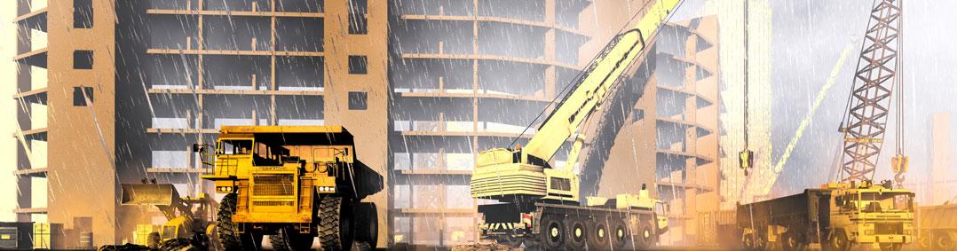 6 riscos provocados pelas chuvas no canteiro de obras