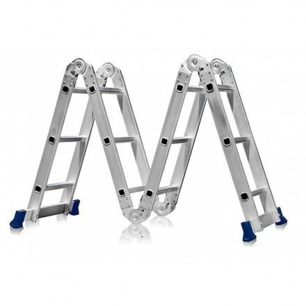 Escada Articulada 12 Degraus 4x3 Multifuncional - Mor / Belfix