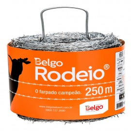 Arame Farpado 1,60mm - 250 Metros - Rodeio - Belgo Bekaert