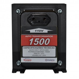 Auto Transformador 1500va -1050w - 110/220v - Kitec