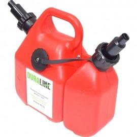 Galão (bidão) para Transporte de Combustível e Óleo - 6 Litros / 2 Litros - Duraline