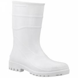 Bota de PVC Longa Branca Com Forro - Bracol
