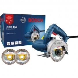 Serra Mármore a seco Bosch GDC 150 TITAN 1500W  Com 2 Discos Professional - Bosch