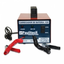 Carregador de bateria - lento - CL 5A Bivolt - Paulitech