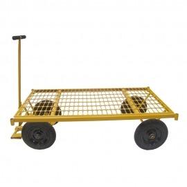 Carro Plataforma Base Grade de Aço com Aro de Alumínio - 600 Kg - MP-600GA - Lynus