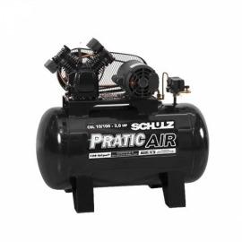 Compressor Ar  10BR/100L CSV Pratic Air 2CV - Monofasico  - Schulz