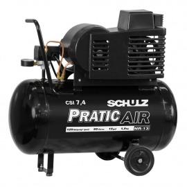 Compressor Ar 7,4/50 CSI Pratic Air 1,5cv  - 110v - Schulz
