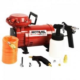 Compressor de Ar Uso Hobby 2,3 Pés Jetmais Com Kit - Motomil