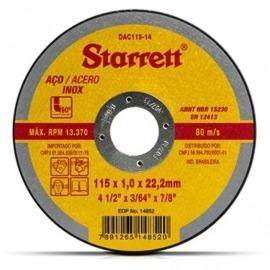 Disco Abrasivo de Corte 115MM DAC115-14 - Starrett