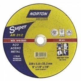 Disco Corte 9 x1/8 x7/8  2 Tela - Norton