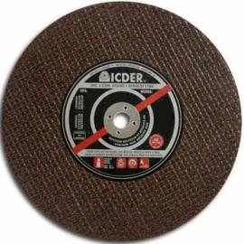 Disco de corte - 16 X 3/16 X 1 - 2 Telas - Icder