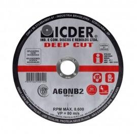 Disco de corte - 4.1/2 X 7/8 - 2 Telas - DEEP CUT - Icder