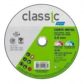 Disco de Corte - 7 X 1/8 X 7/8 - 2 Telas  - Norton