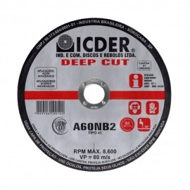 Disco de Corte - 9 x 5/64 x 7/8 - DEEP CUT - Icder