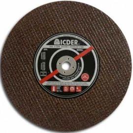 Disco de corte - 9 X 1/8 X 7/8 - 2 Telas - Icder