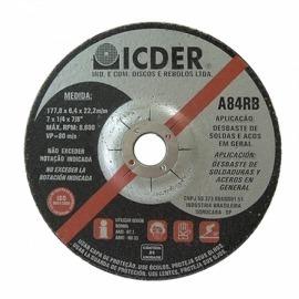 Disco Desbaste 4.1/2 x 1/4 x 7/8 - Icder