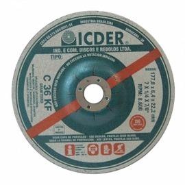 Disco de desbaste - 7 X 1/4 X 7/8 - graniteiro - C 36 - Icder