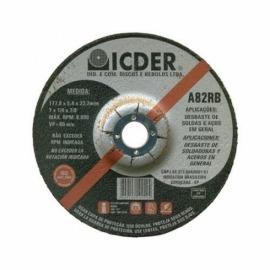 Disco de desbaste - 7 X 1/4 X 7/8 - Icder
