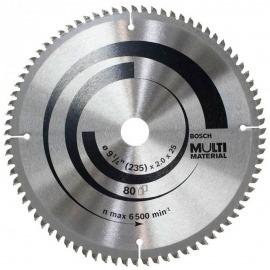 Disco Serra Circular Multimaterial 235x 25mm 80 Dentes - Bosch
