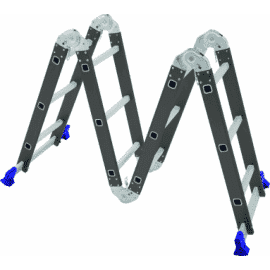 Escada Articulada 12 Degraus 4x3 - Multifuncional Aço - Mor