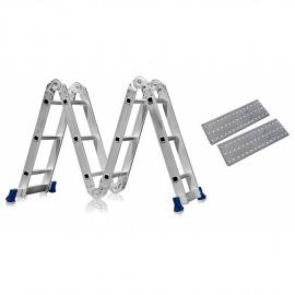 Escada Articulada 12 Degraus 4x3 Multifuncional Com Plataforma - Mor