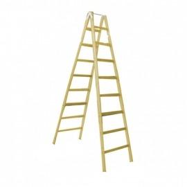 Escada de madeira 16 degraus - 4,8m