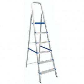 Escada Doméstica 06 Degraus Alumínio - Real