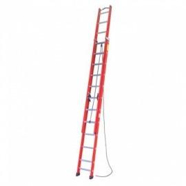 Escada Extensível de Fibra Vidro - 19 Degraus - 3.50x6.00 metros - Alulev