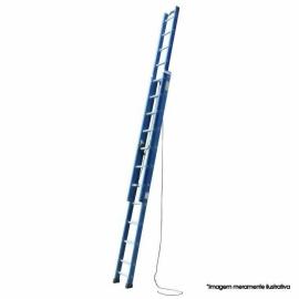 Escada Extensível de Fibra Vidro - 19 Degraus - 3.50x6.00 metros
