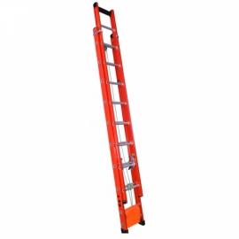 Escada Extensível de Fibra Vidro - 23 Degraus - 4,20 x 7,20 metros  - Alulev