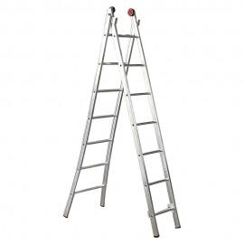 Escada Profissional Esticável Dupla 10 Degraus Alumínio - ED110 - Alulev