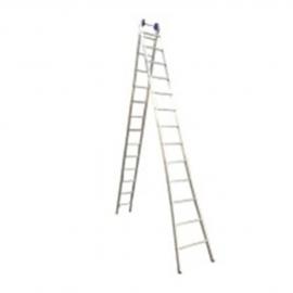 Escada Profissional Esticável Dupla 13 Degraus - Alumínio - Real Escadas