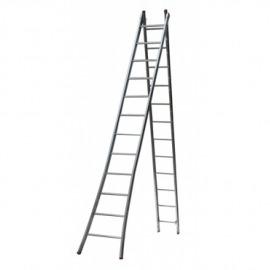 Escada Profissional Esticável Dupla 7 Degraus - metal