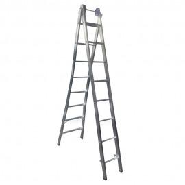 Escada Profissional Esticável Dupla 8 Degraus - Alumínio - Real Escadas