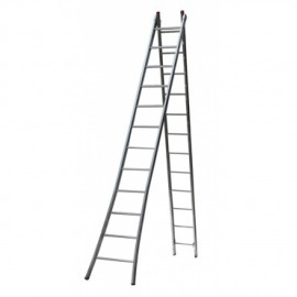 Escada Profissional Esticável Dupla 8 degraus - metal