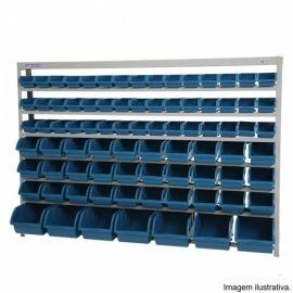 Estante Porta-Componentes com Caixas Azuis  - Marcon