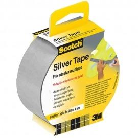 Fita Adesiva Cinza Silver Tape 45 mm X 5 Metros  - 3m