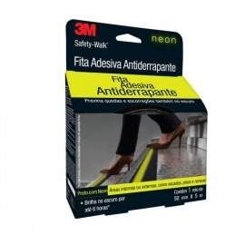 Fita Antiderrapante Fosforescente Neon Safety-Walk 50 mm X 5 Metros - 3m