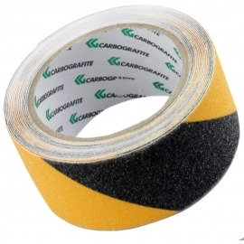 Fita Antiderrapante Preta / Amarela - 50 mm x 5 Metros - Carbografite