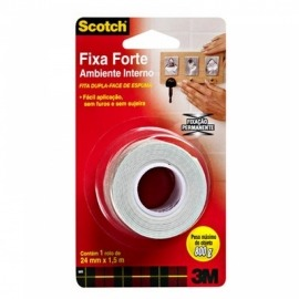 Fita Fixa Forte 24mm x 1,5m - Espuma (Ambiente Interno) - 3m