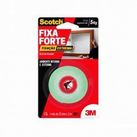 Fita Scotch Fixa Forte Extreme - 24mm x 2m  - 3m