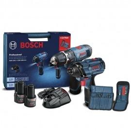 Kit Furadeira/Parafusadeira de impacto GSB 1200-2-LI + Chave de impacto GDR 120-LI - Bosch