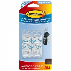 Gancho Mini Command Transparente - 3m