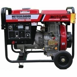 Gerador Moto-Soldador à Diesel 2000 Watts - Mod. MDGS-180A 110/220V - Motomil