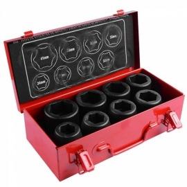 Jogo de Soquetes de Impacto com Encaixe de 1 pol. com 8 Peças de 24 a 41mm - 509 - Robust