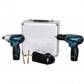 Kit Combo LCT204X2 - Furadeira TD090D e Parafusadeira DF330D - 12V Bivolt - Makita