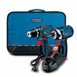 Kit Parafusadeira GSR 12-2-LI e Chave De Impacto GDR 12-Li 12v 110V 2 Baterias - Bosch