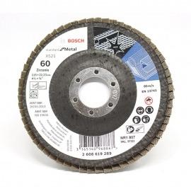 Lixa Flap Disco Para Metal - 115x22mm - GR. 60 - Bosch