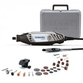 Micro Retífica Dremel 3000 Com Kit 30 Acessórios com 2 Acoplamentos - Dremel